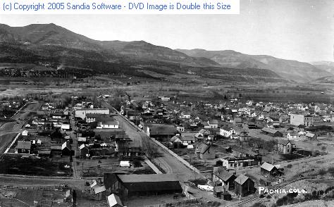 Paonia town view c1920