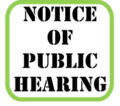 Zoning Board of Adjustment Public Hearing Notice
